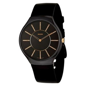腕時計 ラドー メンズ Rado R27741709 Men's True Ceramic Black Quartz Watch|aurora-and-oasis