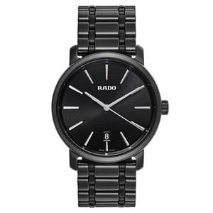 腕時計 ラドー メンズ Rado R14066182 Men's Diamaster Ceramic Black Quartz Watch|aurora-and-oasis