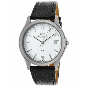 腕時計 グリシン グライシン メンズ  Glycine Men's Vintage Black Genuine Leather Swiss Quartz Watch 3690-11RP-SB-LBK9 aurora-and-oasis