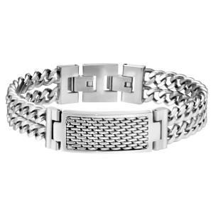 ブレスレット ポリス メンズ Police Men's Reflector Silver Stainless Steel Bracelet 25554BSS/01|aurora-and-oasis