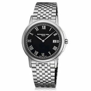 腕時計 レイモンドウイル メンズ Raymond Weil 5466-ST-00208 Men's Tradition Black Quartz Watch|aurora-and-oasis