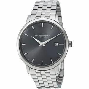 腕時計 レイモンドウイル メンズ Raymond Weil 5488-ST-60001 Men's Toccata Dark Gray Quartz Watch|aurora-and-oasis