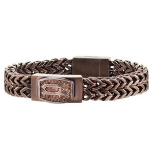 ブレスレット ポリス メンズ Police Men's P-Link Stainless Steel Bracelet 25693BSEBR/03-L|aurora-and-oasis