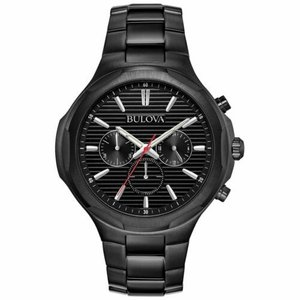 腕時計 ブローバ メンズ Bulova 98A189 Men's Chronograph Black Quartz Watch|aurora-and-oasis