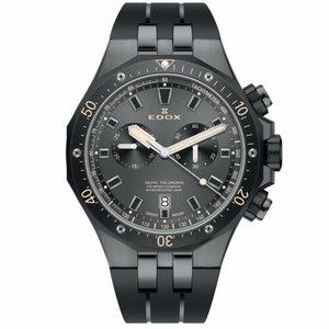 腕時計 エドックス メンズ Edox 10109 357GNCA NINB Men's Delfin Black Quartz Watch|aurora-and-oasis