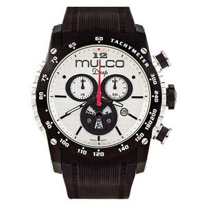 腕時計 マルコ Mulco Unisex MW1-29878-021 White Dial Black Silicone Band Swiss Quartz Watch|aurora-and-oasis