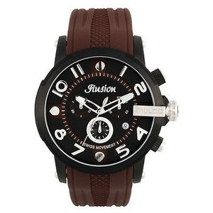 腕時計 マルコ Mulco Unisex MW3-12239-035 Black Dial Brown Silicone Band Quartz Watch|aurora-and-oasis