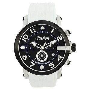 腕時計 マルコ Mulco Unisex MW3-12239-015 Black Dial White Silicone Band Quartz Watch|aurora-and-oasis