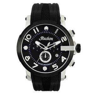 腕時計 マルコ Mulco Unisex MW3-12239-025 Black Dial black Silicone Band Quartz Watch|aurora-and-oasis