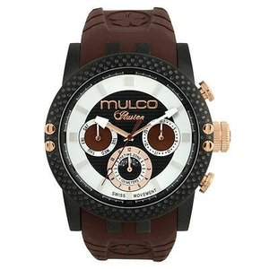 腕時計 マルコ Mulco Unisex 47mm Brown Band Steel Case Swiss Quartz Watch MW3-11169-035|aurora-and-oasis