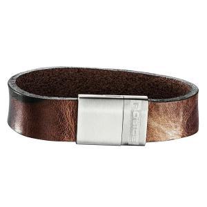 ブレスレット ポリス メンズ Police Men's SERGEANT Brown Leather Bracelet Stainless Steel Buckle 25494BLC/01-L|aurora-and-oasis