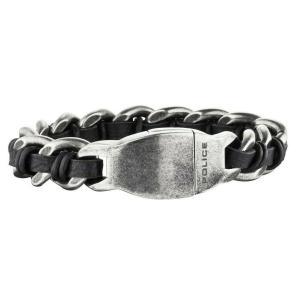 ブレスレット ポリス メンズ Police Men's Shock Steel Bracelet Stainless Steel Buckle 25600BSE/01-L|aurora-and-oasis