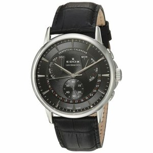 腕時計 エドックス メンズ Edox 016023NIN Men's Les Bemonts Silver-Tone Quartz Watch|aurora-and-oasis