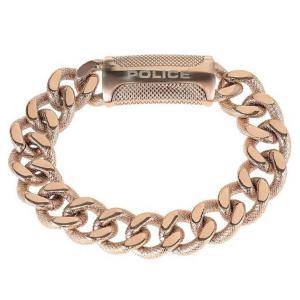 ブレスレット ポリス メンズ Police Men's Raider Rose Gold stainless Steel Bracelet 25508BSRG/03-L|aurora-and-oasis