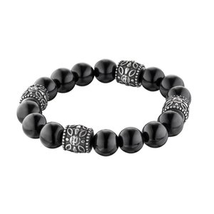 ブレスレット ポリス メンズ Police Unisex REBEL Black stainless Steel Bracelet 25601BSB/03|aurora-and-oasis