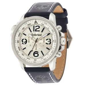 腕時計 ティンバーランド メンズ Timberland Men's CAMPTON Quartz Watch White Dial Blue Leather Strap 13910JS/07A|aurora-and-oasis