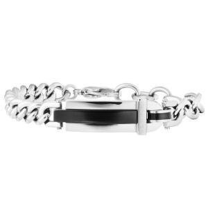 ブレスレット ポリス メンズ Police Men's Charm Silver Bracelet Stainless Steel 25559BSB/01|aurora-and-oasis