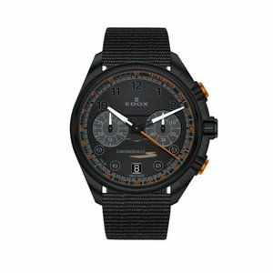 腕時計 エドックス メンズ Edox 09503 37NNONAN NNO Men's Chronorally Black Quartz Watch|aurora-and-oasis