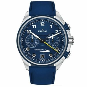 腕時計 エドックス メンズ Edox 09503 3BUCBU BUBG Men's Chronorally Blue Quartz Watch|aurora-and-oasis