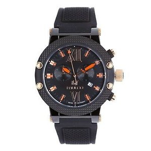 腕時計 マルコ Mulco Unisex Nuit MW3-11010-028-2 Swiss Quartz Black Rubber Strap Watch|aurora-and-oasis