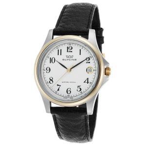 腕時計 グリシン グライシン メンズ  Glycine Men's Vintage Black Genuine Leather Swiss Quartz Watch 3519-34-LB9 aurora-and-oasis
