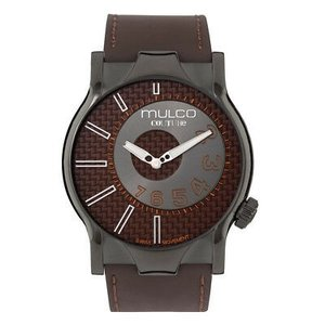 腕時計 マルコ Mulco Unisex Couture Slim NYC Brown Leather Band Swiss Quartz Watch MW5-2013-235|aurora-and-oasis