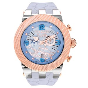 腕時計 マルコ Mulco Unisex MW5-2365-413 Blue Dial Grey Silicone Band Quartz Watch|aurora-and-oasis