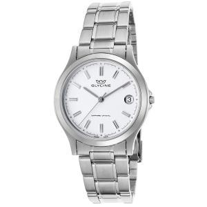 腕時計 グリシン グライシン メンズ  Glycine Men's Vintage Stainless Steel Swiss Quartz Watch 3690-11-SAP-MB aurora-and-oasis