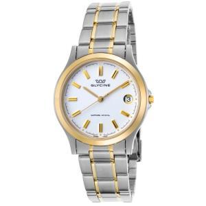 腕時計 グリシン グライシン メンズ  Glycine Men's Vintage Stainless Steel Swiss Quartz Watch 3690-31-SAP-MB aurora-and-oasis