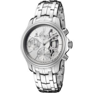 腕時計 Bスイスバイブヘラ メンズ B Swiss by Bucherer Men's Prestige Chrono 38mm Automatic Watch 00.50506.08.13.21 aurora-and-oasis