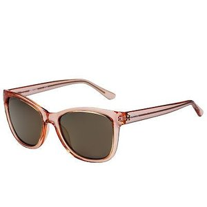 サングラス ケネスコール メンズ Kenneth Cole Reaction Square Pink Translucent Plastic Sunglass KC1267 72C|aurora-and-oasis