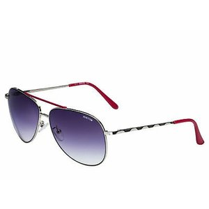 サングラス ケネスコール メンズ Kenneth Cole Reaction Mens Silver Red Metal Aviator Sunglass KC1282 10B|aurora-and-oasis