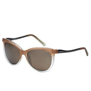 サングラス ケネスコール レディース Kenneth Cole Reaction Womens Soft Square Brown Crystal Sunglass KC1292 59F|aurora-and-oasis