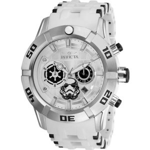 腕時計 インヴィクタ インビクタ メンズ Invicta 26552 Star Wars Men's Chronograph 50mm Stainless Steel Silver Dial Watch|aurora-and-oasis