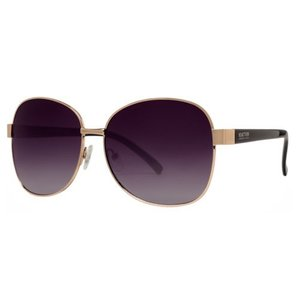 サングラス ケネスコール レディース Kenneth Cole Reaction KC1284 5932B Women's Gold Grey Gradient Square Sunglasses|aurora-and-oasis