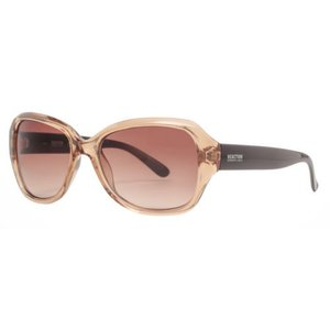 サングラス ケネスコール レディース Kenneth Cole Reaction KC1297 45F Women's Champagne Brown Oversized Sunglasses|aurora-and-oasis