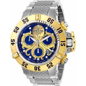 腕時計 インヴィクタ メンズ インビクタ  Invicta 26132 Subaqua Men's 50mm Two-Tone Stainless Steel Blue/Gold Dial Watch|aurora-and-oasis