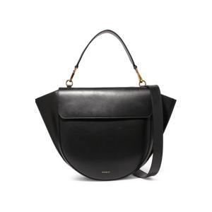 WANDLER ワンドラー ショルダーバッグ ブラック Hortensia large leather shoulder bag|aurora-and-oasis