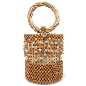 ROSANTICA ロザンティカ ハンドバッグ ウィッカー Cora beaded wicker tote|aurora-and-oasis