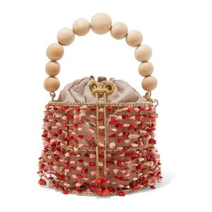 ROSANTICA ロザンティカ ハンドバッグ サンゴビーズ Antares embellished bucket bag|aurora-and-oasis