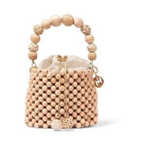 ROSANTICA ロザンティカ ハンドバッグ ウッド Fenice beaded bucket bag|aurora-and-oasis