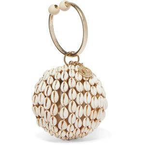 ROSANTICA ロザンティカ ハンドバッグ シェル Lira gold-tone, bead and shell tote|aurora-and-oasis