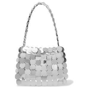 PACO RABANNE パコ ラバンヌ ショルダーバッグ シルバースパンコール Sparkle 1969 sequined satin shoulder bag|aurora-and-oasis