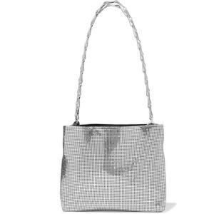 PACO RABANNE パコ ラバンヌ ショルダーバッグ シルバーチェーン Pixel 1960 chainmail shoulder bag|aurora-and-oasis