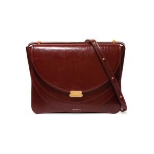 WANDLER ワンドラー ショルダーバッグ ブラウン Luna patent-leather shoulder bag|aurora-and-oasis