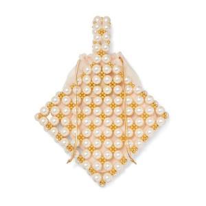 VANINA バニーナ ハンドバッグ パール Reveries beaded faux pearl tote|aurora-and-oasis