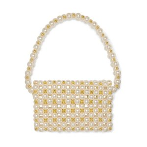 VANINA バニーナ ショルダーバッグ パール Reveries faux pearl and gold-tone beaded shoulder bag|aurora-and-oasis