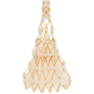 VANINA バニーナ ハンドバッグ パール La Goutte d'Eau beaded faux pearl tote|aurora-and-oasis