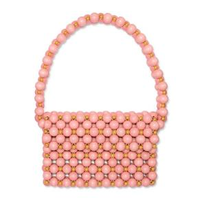 VANINA バニーナ ショルダーバッグ ピンクウッド Bolero beaded wooden shoulder bag|aurora-and-oasis