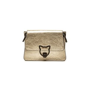 KARL LAGERFELD カール・ラガーフェルド クロスボディバッグ メタリックゴールド K/Katlock Metallic Leather Crossbody Bag|aurora-and-oasis